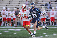 College Park, MD - March 18, 2017: Villanova Wildcats Danny O'Connell (33) is being defended by Maryland Terrapins Isaiah Davis-Allen (26) during game between Villanova and Maryland at  Capital One Field at Maryland Stadium in College Park, MD.  (Photo by Elliott Brown/Media Images International)