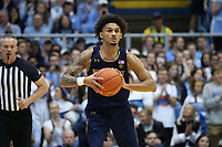 CHAPEL HILL, NC - NOVEMBER 06: Prentiss Hubb #3 of the University of Notre Dame looks to pass the ball during a game between Notre Dame and North Carolina at Dean E. Smith Center on November 06, 2019 in Chapel Hill, North Carolina.