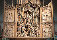 Germany, Baden-Wuerttemberg, Tauber Valley, Creglingen: Riemenschneider-Altar at God's church | Deutschland, Baden-Wuerttemberg, Taubertal, Creglingen: Riemenschneider-Altar in der Hergottskirche, Marien-Retabel