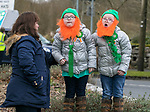 170318<br /> Elle and Lily Barry (5) with their mum Noreen during St Patricks Day parade in Tulla.Pic Arthur Ellis.