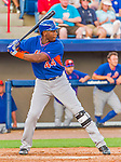 5 March 2015: New York Mets outfielder John Mayberry Jr. at bat against the Washington Nationals at Space Coast Stadium in Viera, Florida. The Mets fell to the Nationals after a late inning rally, dropping a 5-4 Grapefruit League game. Mandatory Credit: Ed Wolfstein Photo *** RAW (NEF) Image File Available ***