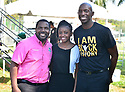 MIRAMAR,  FLORIDA - JANUARY 20: Commissioner Maxwell B. Chambers, singer Mecca Alexander and City of Miramar Mayor Wayne M. Messam attend the annual Reverend Dr. Martin Luther King, Jr. Day celebration City Miramar MLK Parades between Sherman Cirrcle and Lakeshore Park on January 20, 2020 in Miramar, Florida.  ( Photo by Johnny Louis / jlnphotography.com )