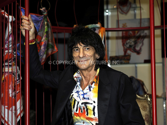 WWW.ACEPIXS.COM . . . . .  ..... . . . . US SALES ONLY . . . . .....October 27 2009. London....Ronnie Wood at the Liberty Of London launch of his fashion range on Great Marlborough Street in London - 27 October 2009....Please byline: FAMOUS-ACE PICTURES... . . . .  ....Ace Pictures, Inc:  ..tel: (212) 243 8787 or (646) 769 0430..e-mail: info@acepixs.com..web: http://www.acepixs.com