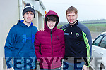 Shay and JAson Murphy with Adam Barry at the Brosna 4km run on Sunday