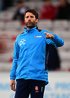Lincoln City manager Danny Cowley during the pre-match warm-up <br /> <br /> Photographer Chris Vaughan/CameraSport<br /> <br /> Vanarama National League - Lincoln City v Chester - Tuesday 11th April 2017 - Sincil Bank - Lincoln<br /> <br /> World Copyright &copy; 2017 CameraSport. All rights reserved. 43 Linden Ave. Countesthorpe. Leicester. England. LE8 5PG - Tel: +44 (0) 116 277 4147 - admin@camerasport.com - www.camerasport.com