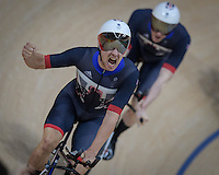 Bradley Wiggins, Ed Clancy, Steven Burke, and Owain Doull win gold medal men's pursuit at the Rio2016. <br /> Rio de Janeiro, Brazil on August 12, 2016<br /> CAP/CAM<br /> &copy;Andre Camara/Capital Pictures /MediaPunch ***NORTH AND SOUTH AMERICAS ONLY***