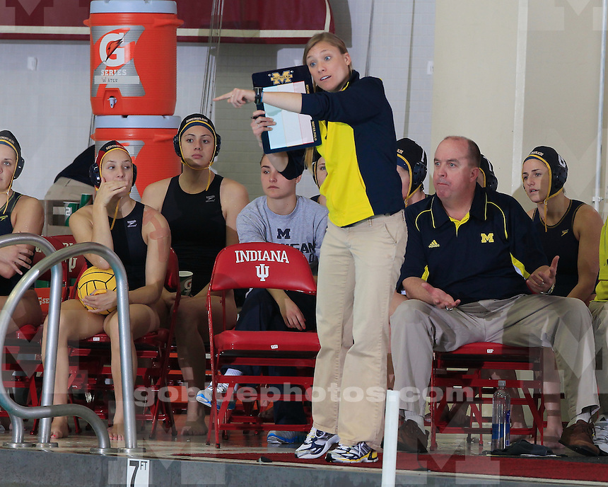 University of Michigan women's water polo 18-4 victory over  George Washington University in the quarterfinal round of the CWPA Eastern Championship at Indiana University, on April 29th, 2011