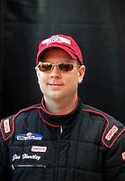 Nov. 2, 2008; Las Vegas, NV, USA: NHRA top fuel dragster driver Joe Hartley during the Las Vegas Nationals at The Strip in Las Vegas. Mandatory Credit: Mark J. Rebilas-