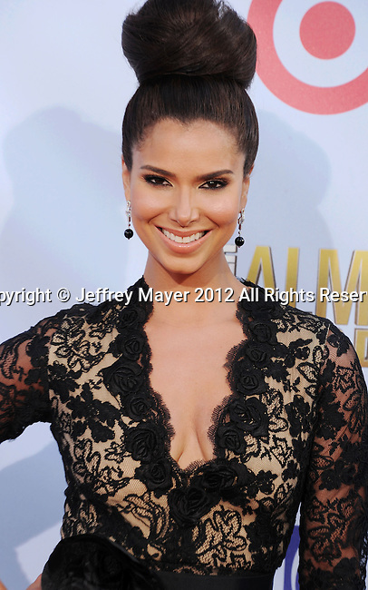 PASADENA, CA - SEPTEMBER 16: Roselyn Sanchez arrives at the 2012 NCLR ALMA Awards at Pasadena Civic Auditorium on September 16, 2012 in Pasadena, California.
