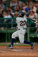 April 9th 2010: Kentrail Davis of the Brevard County Manatees in the game against the Daytona Cubs at Jackie Robinson Ballpark in Daytona Beach, FL (Photo By Scott Jontes/Four Seam Images)