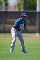 GCL Mets left fielder Wagner Lagrange (6) during the first game of a doubleheader against the GCL Astros on August 5, 2016 at Osceola County Stadium Complex in Kissimmee, Florida.  GCL Astros defeated the GCL Mets 4-1 in the continuation of a game started on July 21st and postponed due to inclement weather.  (Mike Janes/Four Seam Images)