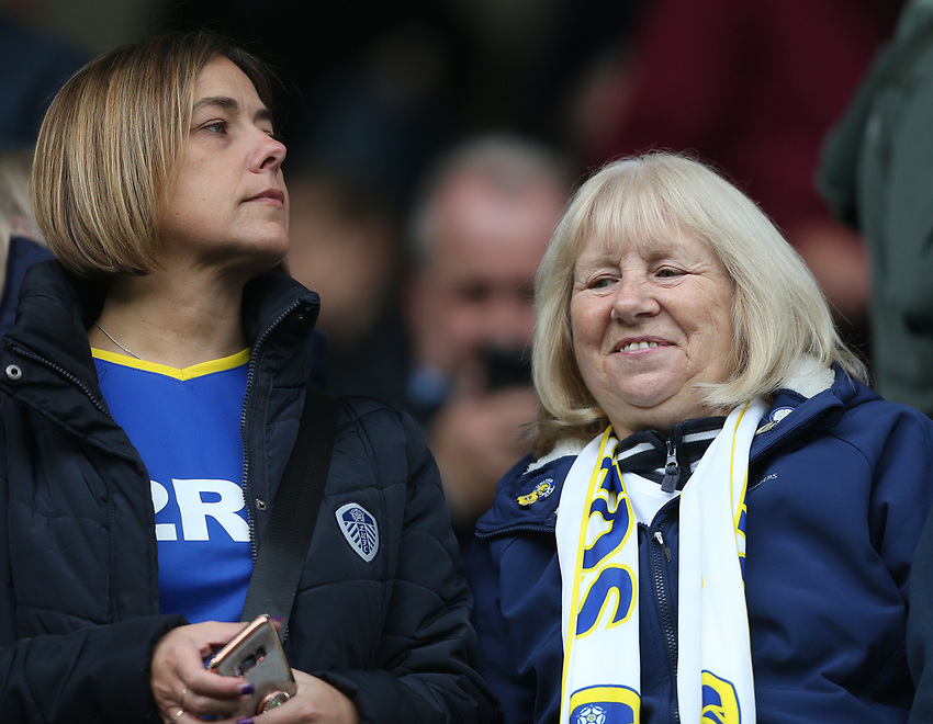 Leeds fans<br /> <br /> Photographer Rob Newell/CameraSport<br /> <br /> The EFL Sky Bet Championship - Millwall v Leeds United - Saturday 5th October 2019 - The Den - London<br /> <br /> World Copyright © 2019 CameraSport. All rights reserved. 43 Linden Ave. Countesthorpe. Leicester. England. LE8 5PG - Tel: +44 (0) 116 277 4147 - admin@camerasport.com - www.camerasport.com