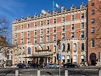 Shelbourne Hotel, St Stephen&rsquo;s Green, Dublin, Rep of Ireland, October, 2018, 201810204745.<br /><br />Copyright Image from Victor Patterson, 54 Dorchester Park, <br />Belfast, UK, BT9 6RJ<br /><br />t1: +44 28 9066 1296 (from Rep of Ireland 048 9066 1296)<br />t2: +44 28 9002 2446 (from Rep of Ireland 048 9002 2446)<br />m: +44 7802 353836<br /><br />victorpattersonbelfast@gmail.com<br /><br />Please see my Terms and Conditions of Use at victorpatterson.com. It is IMPORTANT that you familiarise yourself with them.<br /><br />Images used on the Internet incur an additional cost and must be visibly watermarked i.e. &copy; Victor Patterson within the body of the image and copyright metadata must not be deleted. Images used on the Internet have a size restriction of 4kbs and are chargeable at rates available at victorpatterson.com.<br /><br />This image is available only for the use of the download recipient i.e. television station, newspaper, magazine, book publisher, etc, and must not be passed on to any third party. It is also downloaded on condition that each and every usage is notified within 7 days to victorpattersonbelfast@gmail.com<br /><br />The right of Victor Patterson (or the named photographer) to be identified as the author is asserted in accordance with The Copyright Designs And Patents Act (1988). All moral rights are asserted.