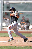 Drew Biery #19 of the San Francisco Giants plays in a minor league spring training game against the Arizona Diamondbacks at the Giants minor league complex on March 16, 2011  in Scottsdale, Arizona. .Photo by:  Bill Mitchell/Four Seam Images.