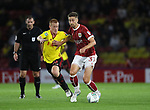 Watford's Ben Watson tussles with Bristol City's Jens Hegeler during the Carabao cup match at Vicarage Road Stadium, Watford. Picture date 22nd August 2017. Picture credit should read: David Klein/Sportimage
