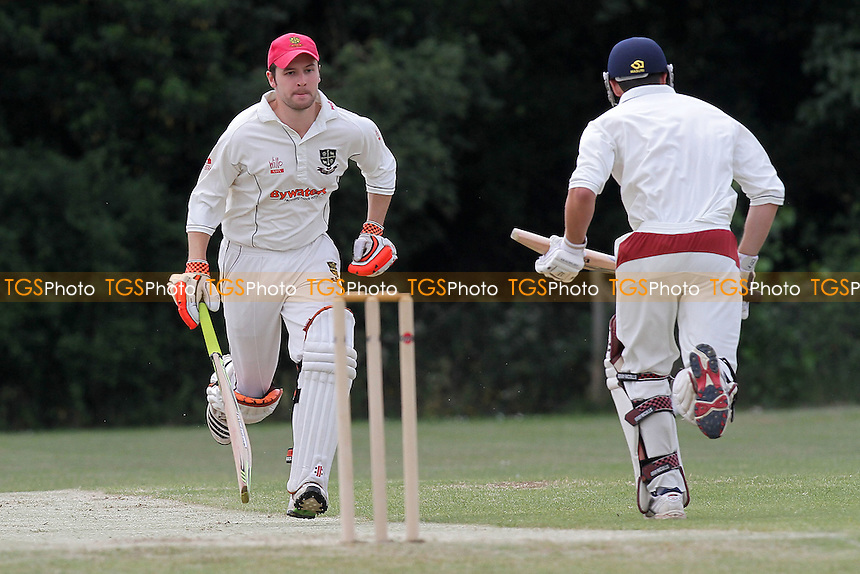 Joe Craddock (L) and Harry Neicho make runs for South Woodford - South Woodford CC vs Hainault & Clayhall CC - Essex Club Cricket - 21/05/11 - MANDATORY CREDIT: Gavin Ellis/TGSPHOTO - Self billing applies where appropriate - Tel: 0845 094 6026