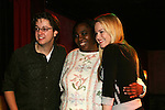 General Hospital's Bradford Anderson and Julie Berman pose with a fan at the Brokerage Comedy Club on February 21, 2009 in Bellmore, New York to see their fans as they sign and pose for photos, do a show for the fans and Bradford plays Simon Says with his fans. ALSO Bradford sang for all and he was great. (Photo by Sue Coflin/Max Photos)