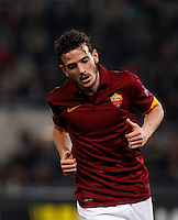Calcio, Europa League: Ritorno degli ottavi di finale Roma vs Fiorentina. Roma, stadio Olimpico, 19 marzo 2015.<br /> Roma's Alessandro Florenzi runs during the Europa League round of 16 second leg football match between Roma and Fiorentina at Rome's Olympic stadium, 19 March 2015.<br /> UPDATE IMAGES PRESS/Isabella Bonotto
