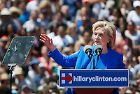 Hillary Clinton Speaks to the crowd as she officially kicked off her 2016 campaign in New York.  06/13/2015. Kena Betancur/VIEWpress
