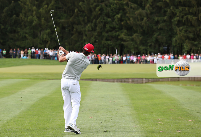 Playing second shot to the 16th is Rafa Cabrera-Bello (ESP) during Round Three of the 2015 BMW International Open at Golfclub Munchen Eichenried, Eichenried, Munich, Germany. 27/06/2015. Picture David Lloyd | www.golffile.ie