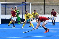 2nd February 2020; Sydney Olympic Park, Sydney, New South Wales, Australia; International FIH Field Hockey, Australia versus Great Britain; Ashley Jackson of Great Britain takes a shot