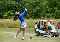 Maria Fassi hits Tuesday, June 23, 2020, from the tee box on hole 16 during the pro-am round of the Cooper Northwest Arkansas Charity Classic golf tournament at Bella Vista Country Club. Go to nwaonline.com/200624Daily/ to see more photos.<br /> (NWA Democrat-Gazette/Ben Goff)