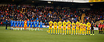 10.11.2019: Livingston v Rangers: Minutes silence for Remembrance