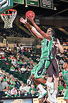 North Texas Mean Green guard Alzee Williams (3) in action during the game between the Lehigh Mountain Hawks and the North Texas Mean Green at the Super Pit arena in Denton, Texas. Lehigh defeats UNT 90 to 75...