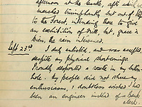 BNPS.co.uk (01202 558833)<br /> Pic: CharterhouseAuction/BNPS<br /> <br /> Extracts from the diary<br /> <br /> The heroics of a pint-sized soldier who was part of the so-called Tommy Thumb Regiment can be told over 100 years later after his gripping war diary went up for sale.<br /> <br /> Since Captain Angus McKenzie Forsyth was under 5ft 3ins he fell below the British Army's minimum height requirement in World War One.<br /> <br /> However, such was the necessity to recruit men to fight in the trenches, special 'Bantam' units were formed for vertically-challenged Tommies <br /> <br /> Men who measured between 4ft 10ins and 5ft 3ins were eligible.