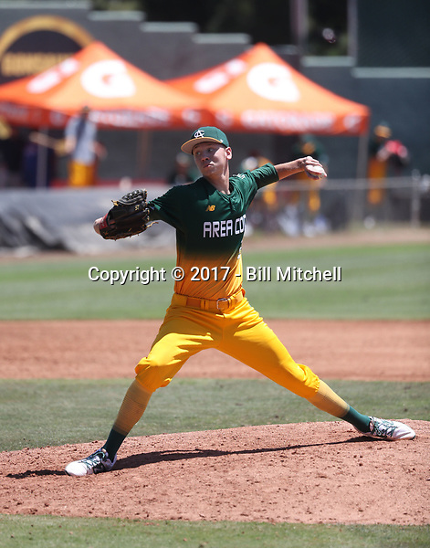 Titus Groeneweg plays in the 2017 Area Code Games on August 6-10, 2017 at Blair Field in Long Beach, California (Bill Mitchell)