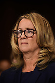 Christine Blasey Ford, the woman accusing Supreme Court nominee Brett Kavanaugh of sexually assaulting her at a party 36 years ago, testifies during his US Senate Judiciary Committee confirmation hearing on Capitol Hill in Washington, DC, September 27, 2018.  / AFP PHOTO / POOL / SAUL LOEB / AFP PHOTO / POOL / Saul LOEB