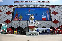 Maskottchen Zabavika am Spartak Stadion in Moskau - 19.06.2018: Polen vs. Senegal, Gruppe H, Spartak Stadium Moskau