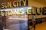 """Fred Grimsrud has lived in Sun City for 33 years. """"How can it get boring when you've got everything you wanna do when you wanna do it?,"""" he asked. He plays a game in the Sun City Table Tennis Club at the Bell Recreation Center in Sun City, Arizona December 1, 2013."""