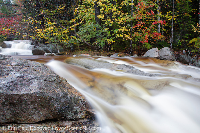 Swift River in the White Mountain National Forest of  New Hampshire USA during the autumn months