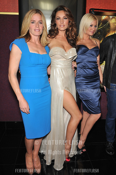 """Elisabeth Shue (left), Kelly Brook & Riley Steele at the Los Angeles premiere of their new movie """"Piranha 3D"""" at Mann's Chinese 6 Theatre, Hollywood..August 18, 2010  Los Angeles, CA.Picture: Paul Smith / Featureflash"""