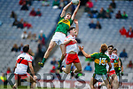 Diarmuid O'Connor Kerry in action against Padraig McGrogan Derry in the All-Ireland Minor Footballl Final in Croke Park on Sunday.