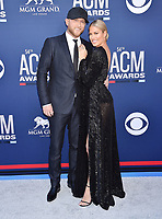 LAS VEGAS, CA - APRIL 07: Cole Swindell (L) and Barbie Blank attend the 54th Academy Of Country Music Awards at MGM Grand Hotel &amp; Casino on April 07, 2019 in Las Vegas, Nevada.<br /> CAP/ROT/TM<br /> &copy;TM/ROT/Capital Pictures