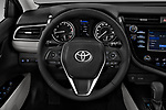 Car pictures of steering wheel view of a 2018 Toyota Camry SE Auto 4 Door Sedan