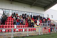 The two minute silence is honoured by the crowd during Harlow Town vs Dulwich Hamlet, Buildbase FA Trophy Football at The Harlow Arena on 11th November 2017