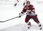 Branden Gracel (UMass - 26) - The Boston College Eagles defeated the University of Massachusetts-Amherst Minutemen 3-2 to take their Hockey East Quarterfinal matchup in two games on Saturday, March 10, 2012, at Kelley Rink in Conte Forum in Chestnut Hill, Massachusetts.