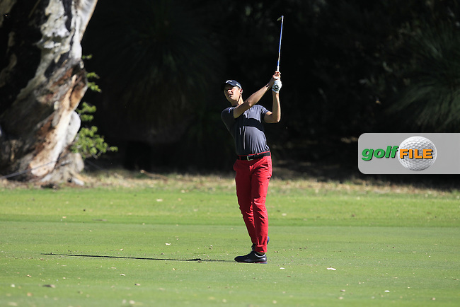 Edward Molinari (ITA) on the 1st fairway during Round 2 of the ISPS Handa World Super 6 Perth on Friday 17th February 2017.<br /> Picture:  Thos Caffrey / Golffile<br /> <br /> All photo usage must carry mandatory copyright credit     (&copy; Golffile | Thos Caffrey)