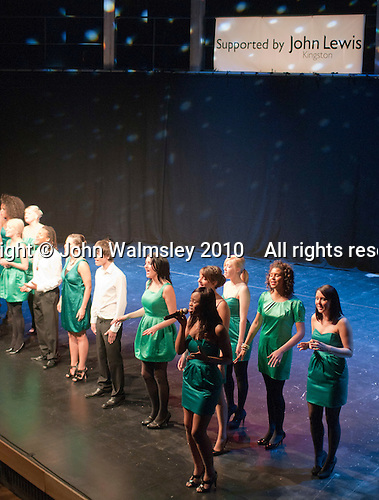 """ACM Gospel Choir performing.  Special Olympics Surrey put on a show,   """"Beyond the Stars"""", at the Rose Theatre, Kingston upon Thames to raise money for the  SOGB team.  The Special Olympics are for athletes with learning disabilities."""