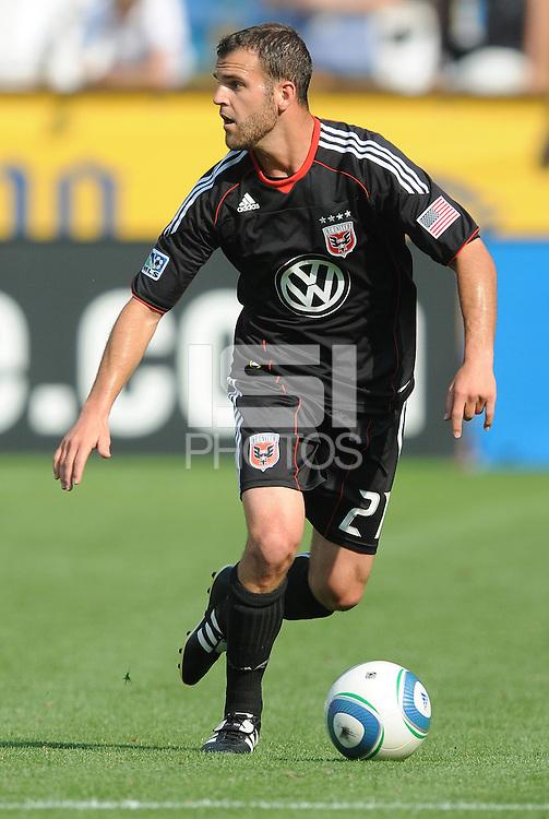 D.C. United defender Daniel Woolard (21)   File photo RFK stadium 2011 season.