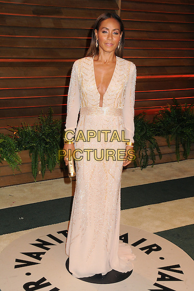 02 March 2014 - West Hollywood, California - Jada Pinkett Smith. 2014 Vanity Fair Oscar Party following the 86th Academy Awards held at Sunset Plaza.  <br /> CAP/ADM/BP<br /> &copy;Byron Purvis/AdMedia/Capital Pictures
