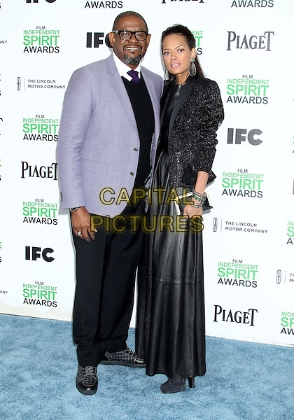 1 March 2014 - Santa Monica, California - Forest Whitaker, Keisha Nash Whitaker. 2014 Film Independent Spirit Awards held at Santa Monica Beach. <br /> CAP/ADM/RE<br /> &copy;Russ Elliot/AdMedia/Capital Pictures