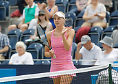June 14th 2017, The Northern Lawn tennis Club, Manchester, England; ITF Womens tennis tournament; Naomi Broady (GBR) applauds the Manchester crowd after she won her first round singles match against Ankita Raina (IND) in straight sets