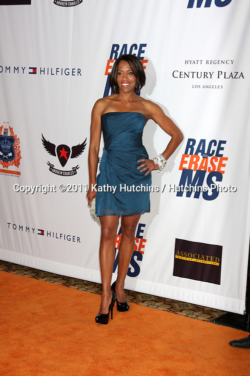 LOS ANGELES - APR 29:  Regina King arriving at the 18th Race to Erase MS Event at Century Plaza Hotel on April 29, 2011 in Century City, CA..