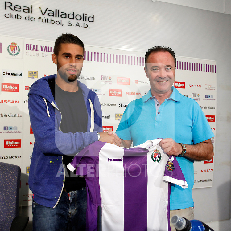 Fausto Rossi during the official presentation as a new Real Valladolid´s player in Jose Zorrilla Stadium. Valladolid, Spain. August 29,2013. (ALTERPHOTOS/Victor Blanco)