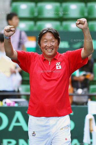Eiji Takeuchi Head coach (JPN), September 18, 2011 - Tennis : Davis Cup 2011, World Group play-off at Ariake Colosseum, Tokyo, Japan. (Photo by Daiju Kitamura/AFLO SPORT) [1045]