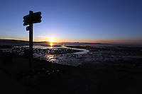 Swansea, UK. Saturday 21 June 2014<br /> Pictured: The sun rises over Swansea marking the Summer Solstice and the year's longest day.